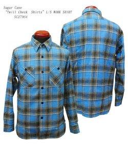 """画像1: Sugar Cane (シュガーケーン) """"Twill Check Shirts""""L/S WORK SHIRT"""