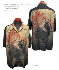 "SUN SURF×日本の意匠 National Treasure of Japan Short sleeve Hawaiian Shirt(半袖アロハ) ""動植さい絵 南天雄鶏図"" SS38716-21SS"