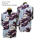 """Sun Surf(サンサーフ) Hawaiian Shirt(アロハ) ショートスリーブ """" RESTING CRANES ON PINE TREE """""""
