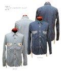 "Eight-G(エイトG) ""ヴィンテージストライプワークシャツ""長袖 当店水洗い&自然乾燥 8LS-46-19SS"