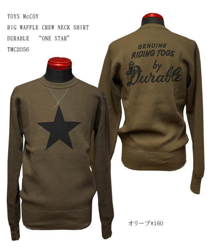 "TOYS McCOY BIG WAFFLE CREW NECK SHIRT    DURABLE""ONE STAR"" TMC2056"